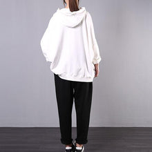 Load image into Gallery viewer, New Korean version of loose large size meat cover white top + black pants casual suit