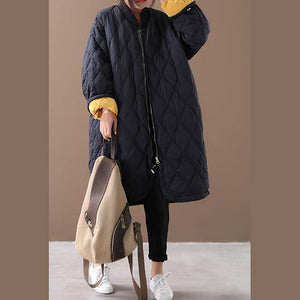 New black duck down coat oversize down jacket winter Jackets zippered