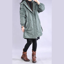 Load image into Gallery viewer, New blue casual outfit oversize winter jacket hooded drawstring winter outwear