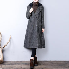 Load image into Gallery viewer, New dark gray coat oversize winter coat hooded pockets YZ-2018111436