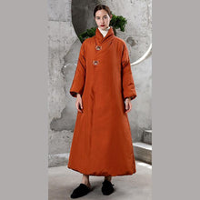 Load image into Gallery viewer, New orange warm winter coat plus size thick snow jackets embroidery winter outwear