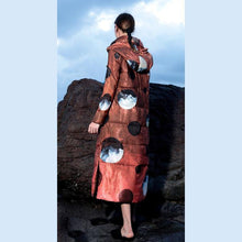 Load image into Gallery viewer, New red prints warm winter coat plus size clothing long sleeve winter jacket hooded coats