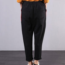 Load image into Gallery viewer, New stitching wild elastic waist cropped casual black pants