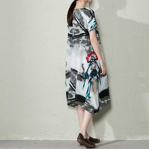 New floral summer maxi dress plus size maternity dress oversize sundress