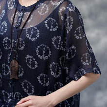 Load image into Gallery viewer, New summer dress bohemian style Summer Floral Short Sleeve Black Casual Two-piece Dress