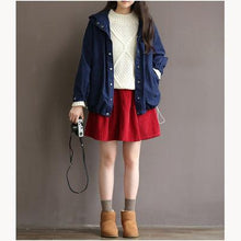 Load image into Gallery viewer, New women red casual short skirt loose fitting corduroy mini skirts