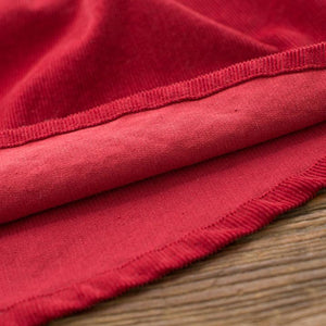 New women red casual short skirt loose fitting corduroy mini skirts
