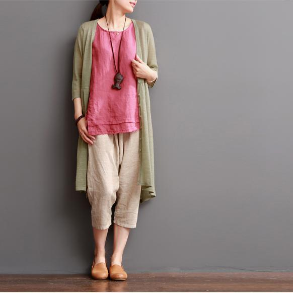Nude cotton coat summer cotton cardigan women