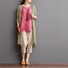 Load image into Gallery viewer, Nude cotton coat summer cotton cardigan women