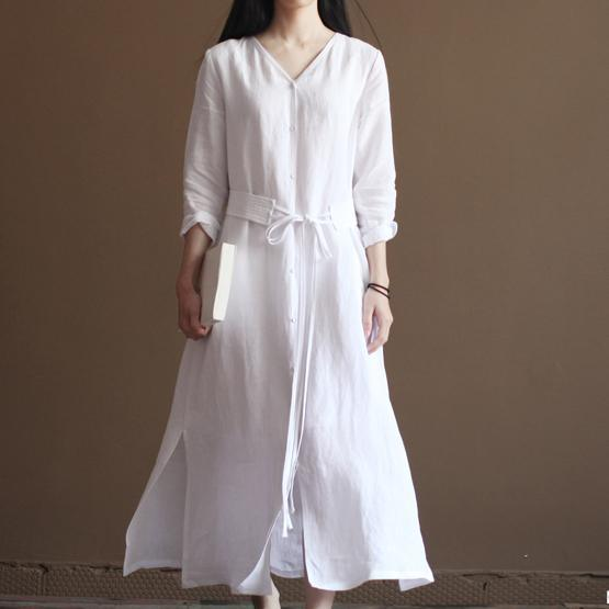 Nude linen dresses flowy linen maxi dress oversize linen clothing