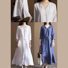 Load image into Gallery viewer, Nude linen dresses flowy linen maxi dress oversize linen clothing