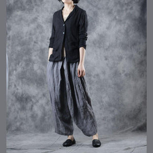 Organic Square Collar linen clothes Photography black short coats fall