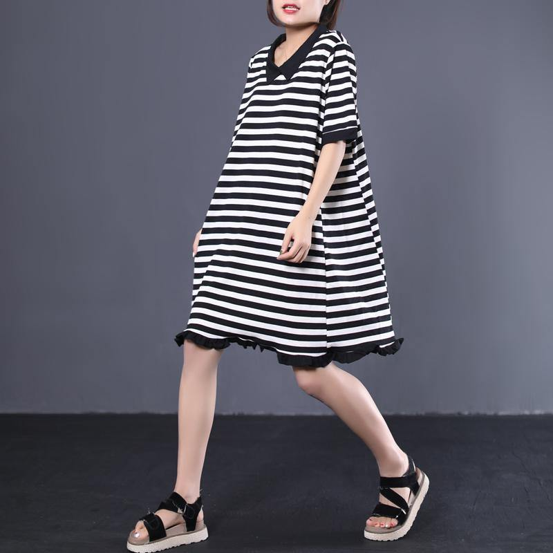 Organic patchwork cotton dress Photography striped Robe Dress summer