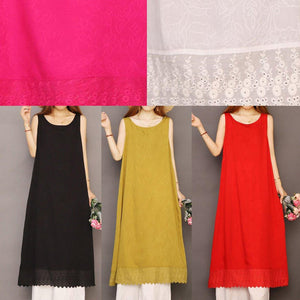Organic sleeveless Jacquard cotton Soft Surroundings Shape white Dresses summer