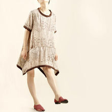 Load image into Gallery viewer, Oversize comfortable sundress cotton summer shirt dress