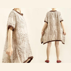 Oversize comfortable sundress cotton summer shirt dress