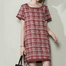 Load image into Gallery viewer, Pink plus size summer dress short linen sundress maternity dresses