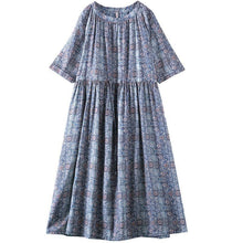 Load image into Gallery viewer, Plain Print Adjustable Waist Casual Dress