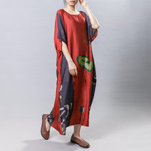 Load image into Gallery viewer, Plant Printed Soft Comfortable Gauzy Dress