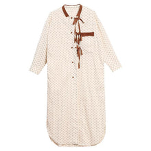 Load image into Gallery viewer, Plus Size Lacing Dot Double Breasted Shirt Dress