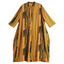 Load image into Gallery viewer, Plus Size Women Printing Loose Midi Dress