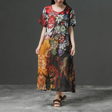 Load image into Gallery viewer, Print Commuter Linen Short Sleeve Dress