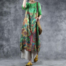 Load image into Gallery viewer, Printed Half Sleeve Loose Casual Dress