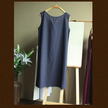 Load image into Gallery viewer, Pure cotton basic shirt women oversize tank top-blue