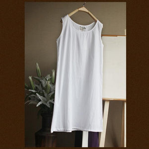 Pure cotton basic shirt women oversize tank top-white