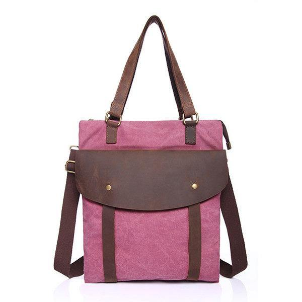 Purple Canvas High Quality Handbag Shoulder Bags Crossbody Bag