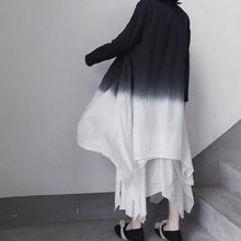 Load image into Gallery viewer, Retro Irregular Double Layer Gradient Cape Coat