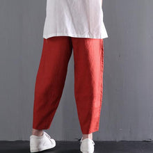 Load image into Gallery viewer, Retro linen pants women summer long pants
