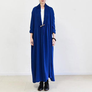 Rooyal blue plus size linen cardigans plus size maxi dress