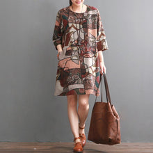 Load image into Gallery viewer, Ruby floral cotton dress pluss size cotton shirt sundresses