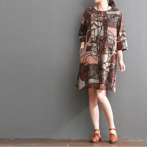 Ruby floral cotton dress pluss size cotton shirt sundresses