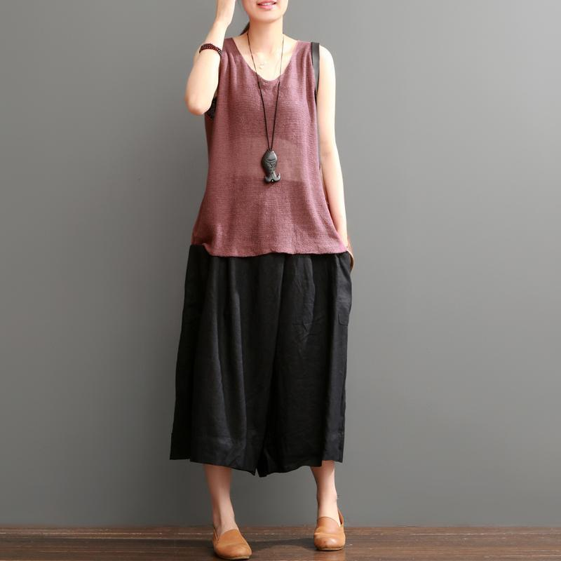 Ruby linen tank top oversize women blouses tops