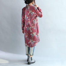 Laden Sie das Bild in den Galerie-Viewer, Ruby print silk dresses oversize tunic cotton blouses shift dresses