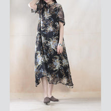 Load image into Gallery viewer, Silk dresses  floral summer dress long silk maxi dress two pieces