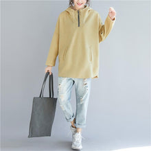 Load image into Gallery viewer, Simple cotton clothes For Women 2019 Fabrics yellow baggy tops