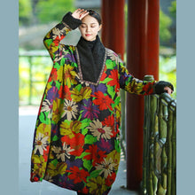 Load image into Gallery viewer, Simple light green prints cotton Wardrobes Soft Surroundings Sleeve shift autumn thick Dresses