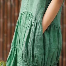 Load image into Gallery viewer, Solid Color Pleated Spliced Casual Dress