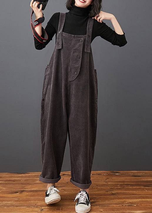 Style Spring Women Pants Plus Size Gray Jumpsuit Pants