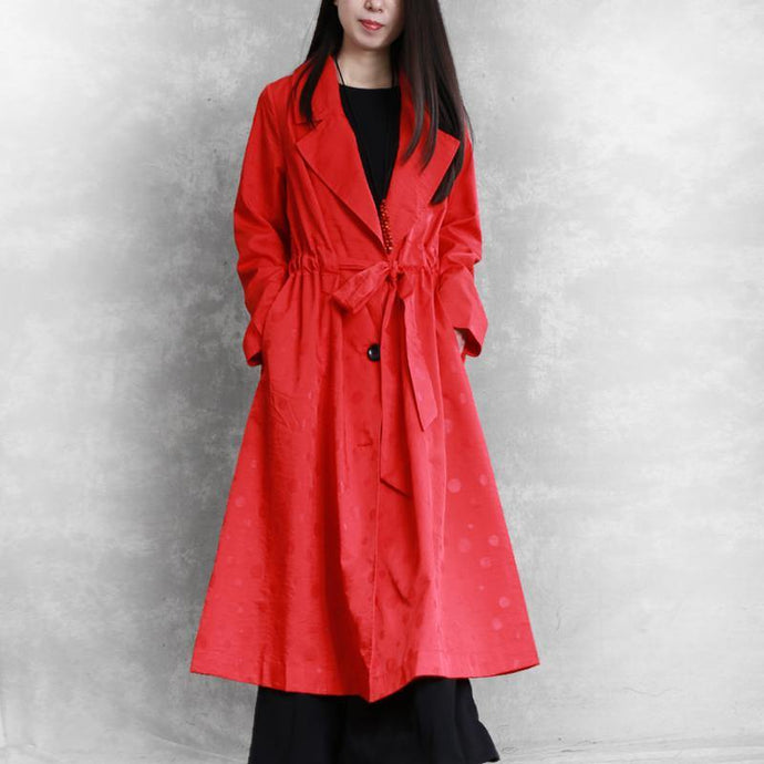 Style drawstring Fashion clothes For Women red tunic outwears fall