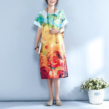 Load image into Gallery viewer, Summer Abstract Printed Straight Midi Dress