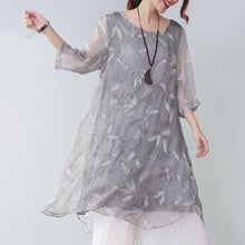 Load image into Gallery viewer, Summer Casual Plus Size Feather-Print Elegant Women's Dress