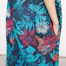 Load image into Gallery viewer, Summer Coloured Printed Round Neck Sleeveless Dress For Women