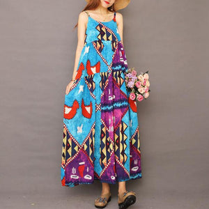 Summer Floral Printed Cool Suspender Dress