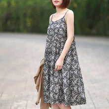 Load image into Gallery viewer, Summer O-Neck Sleeveless Floral Printed Slip Dress