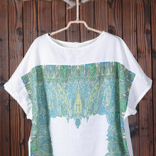 Load image into Gallery viewer, Summer Printing Loose Short Sleeve Women Dress