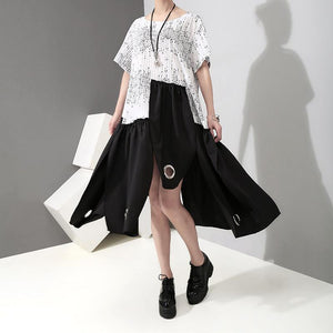 Summer Short Sleeve Irregular Loose Casual Dress